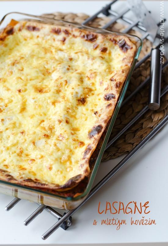 lasagne s mletým hovězím