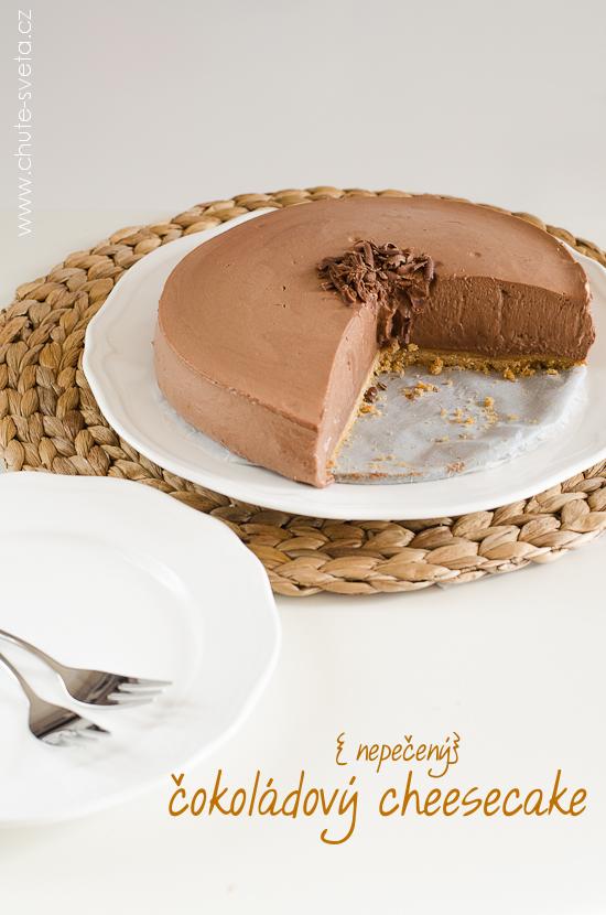 { nepečený } čokoládový cheesecake