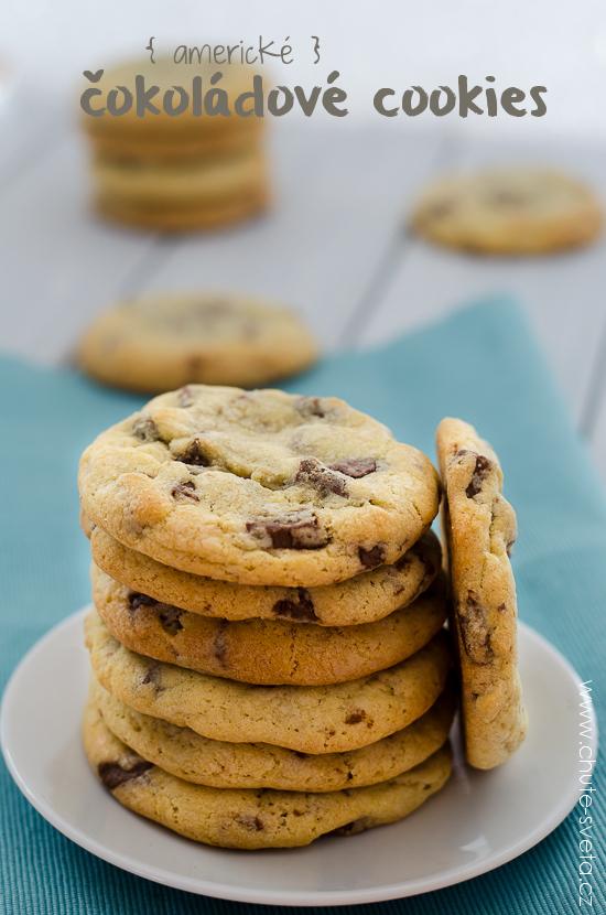 { americké } čokoládové cookies