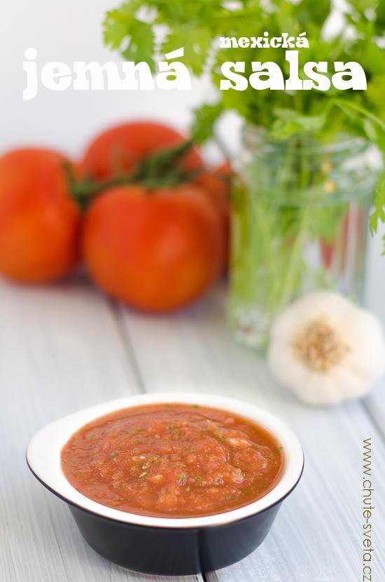 { jemná } mexická salsa