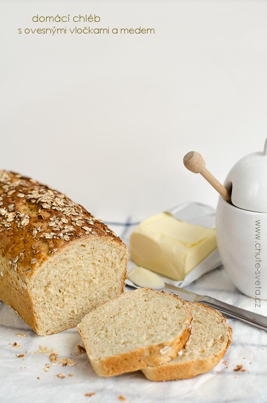 domácí chléb s ovesnými vločkami a medem { předsevzetí 2014: každý měsíc chleba }