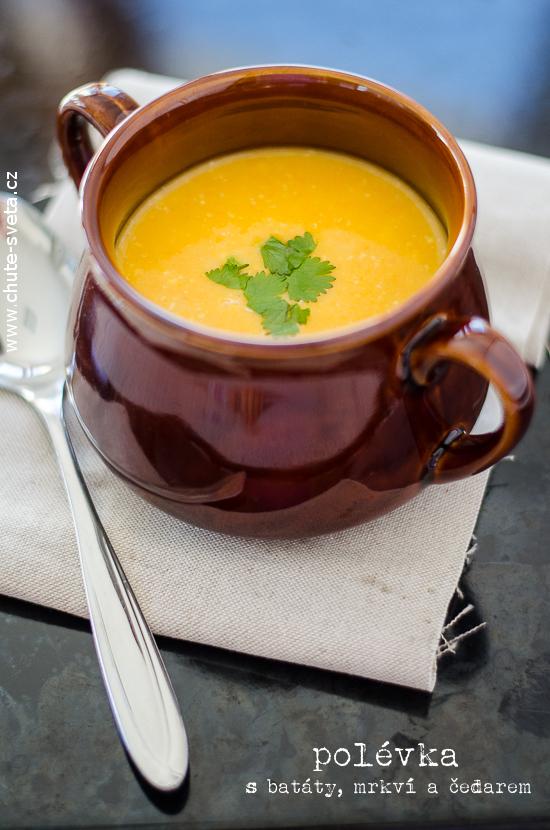 předsevzetí 2014: každý týden polévka { polévka s batáty, mrkví a čedarem}