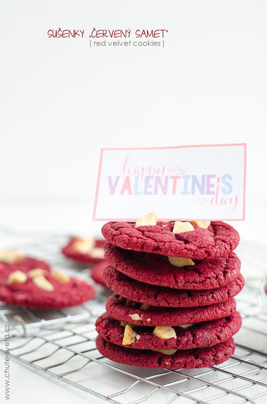 """{ valentýnské } sušenky """"červený samet"""""""