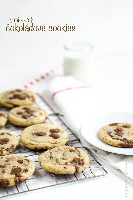{ měkké } čokoládové cookies