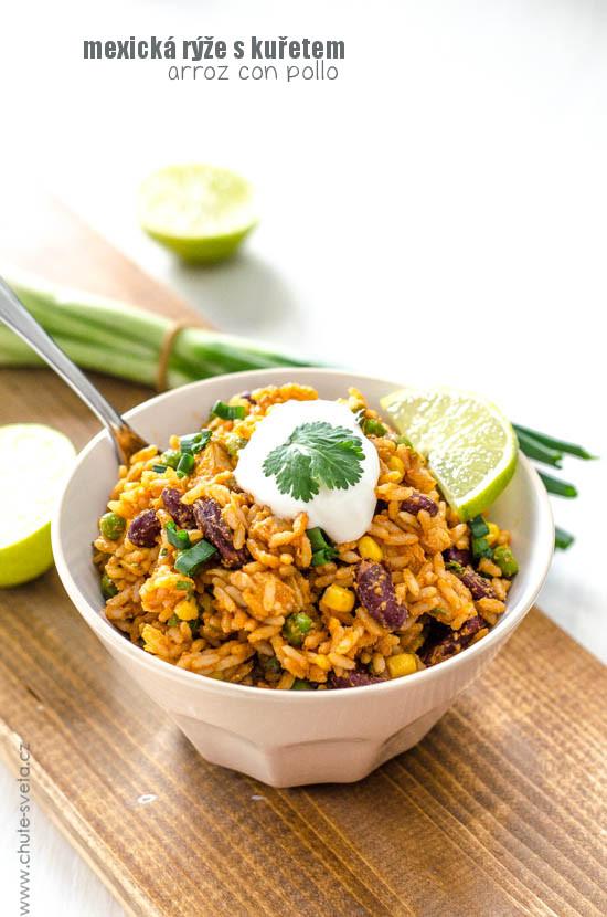 arroz con pollo (mexická rýže s kuřetem)