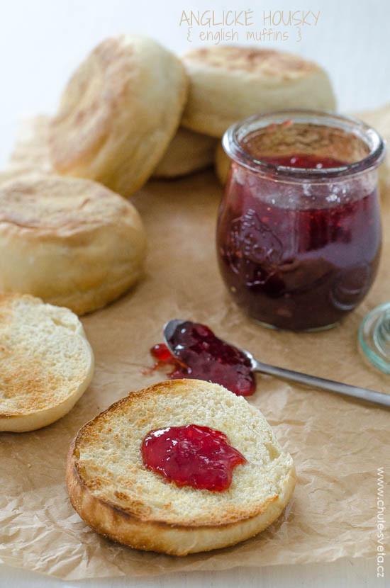 anglické housky { english muffins }