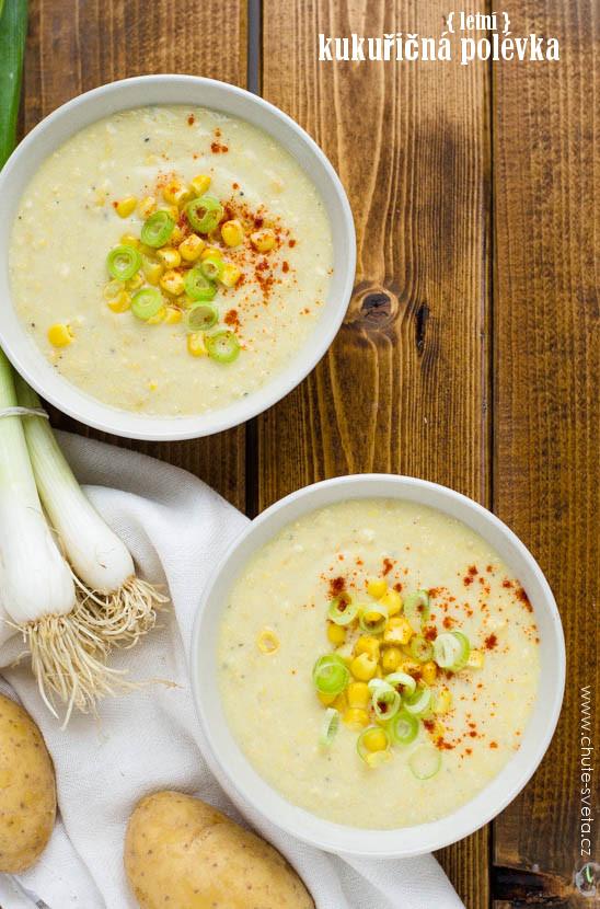 { letní } kukuřičná polévka