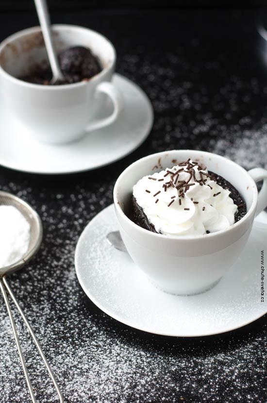 čokoládový dort z hrnku { mug cake}