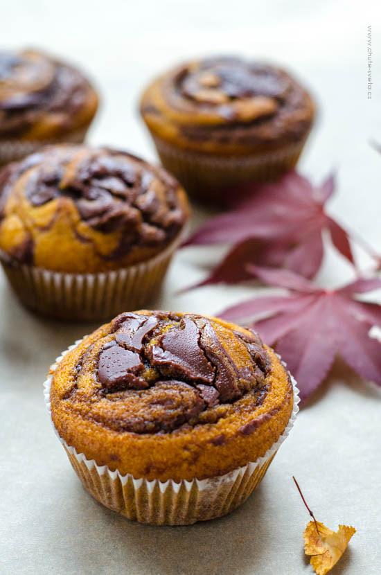 dýňové muffiny s nutellou