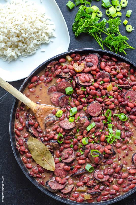 new orleanské fazole s rýží { red beans and rice }