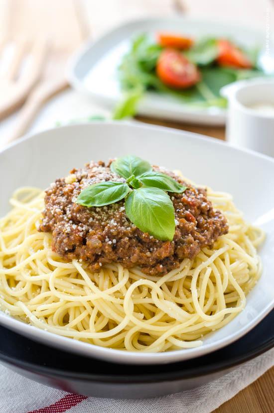 { moje } boloňské špagety