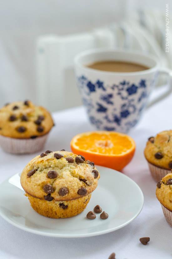 čokoládové muffiny jako z kavárny