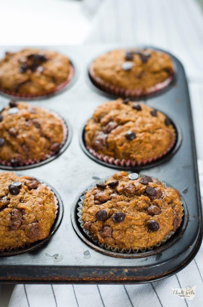 Celozrnné mrkvové muffiny bez cukru