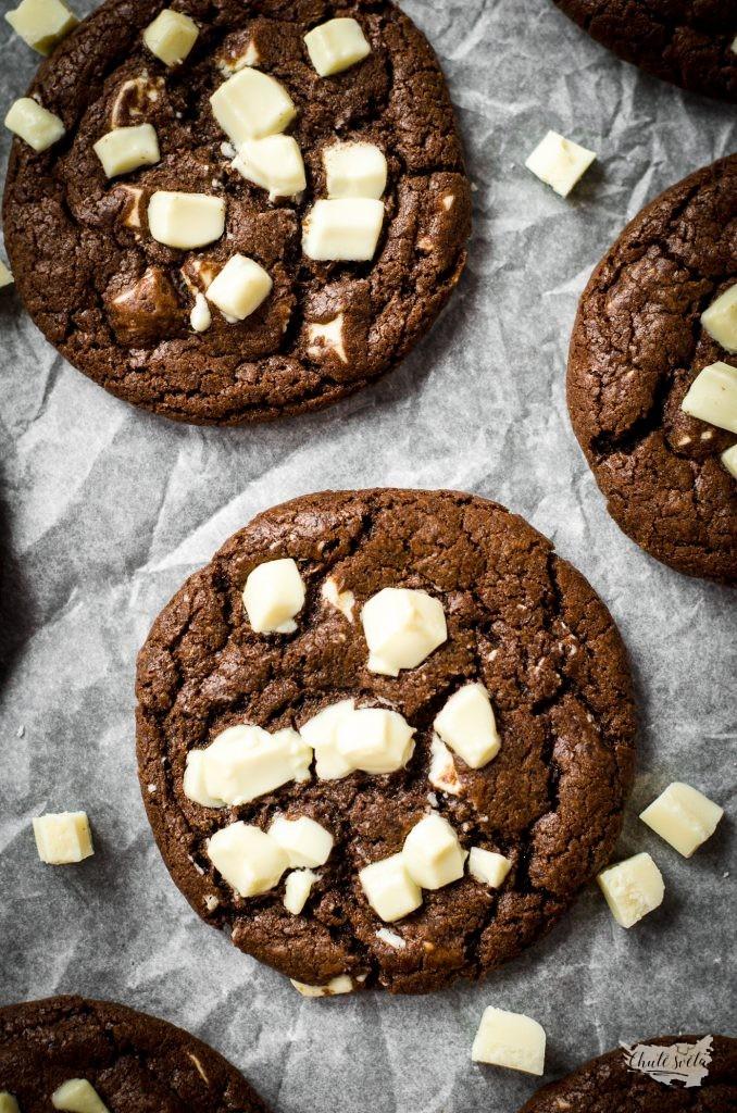 čokoládové cookies s bílou čokoládou