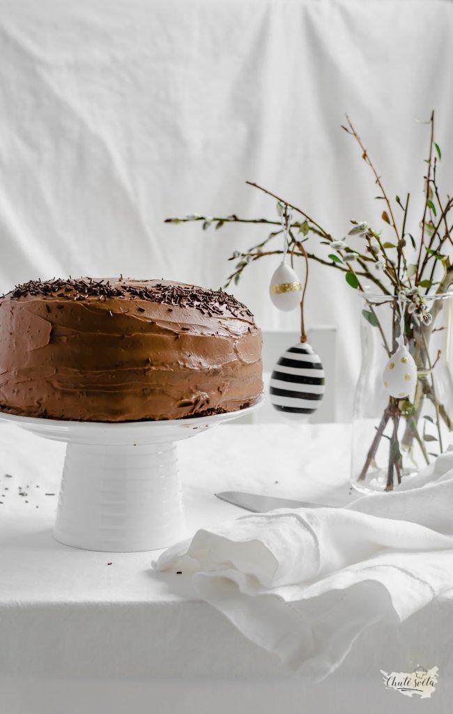 velikonoční čokoládovo-mrkvový dort