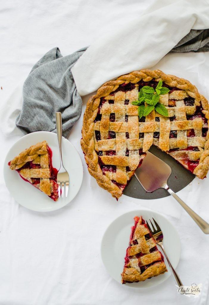 celozrnný švestkový koláč